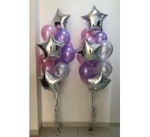 """Фонтаны из воздушных шаров """"Нежность"""""""