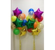 """Два фонтана из шаров""""Цветные звезды"""""""